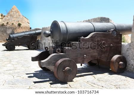 Antique canon - stock photo