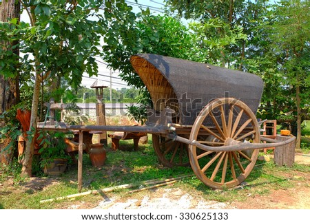 antique cart  from farm in Thailand.