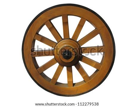 Колесо от телеги фото
