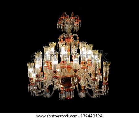 Antique chandelier - stock photo