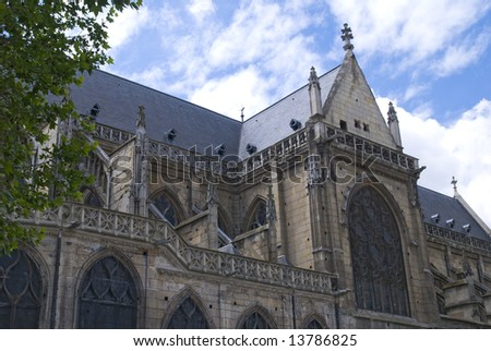 antique church building in paris-france
