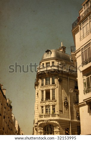 antique city building in paris Europe