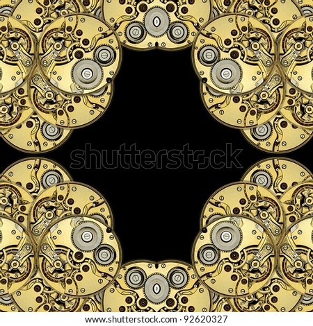 antique clockworks as abstract design