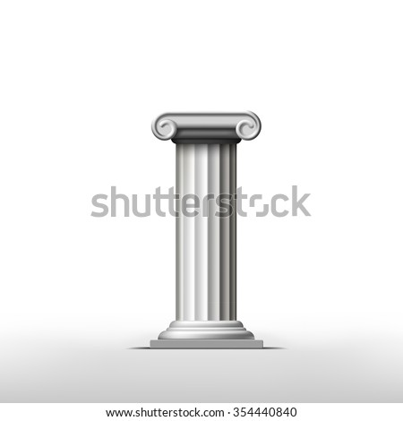 Antique column on a white background. Stock illustration