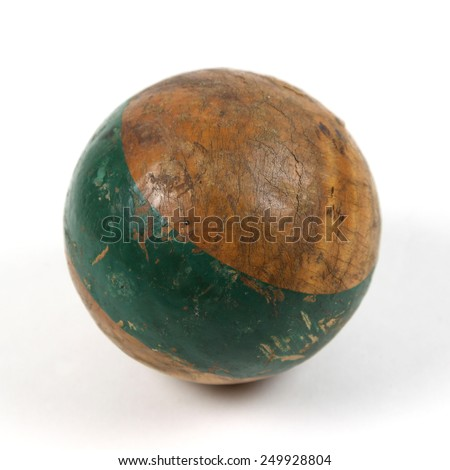 Antique croquet ball - stock photo