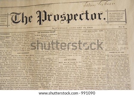 antique daily newspaper  -  from january, 13, 1900