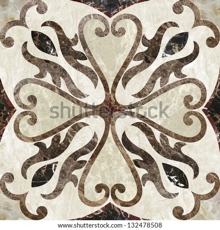 Antique, decor for floor or wall - stock photo