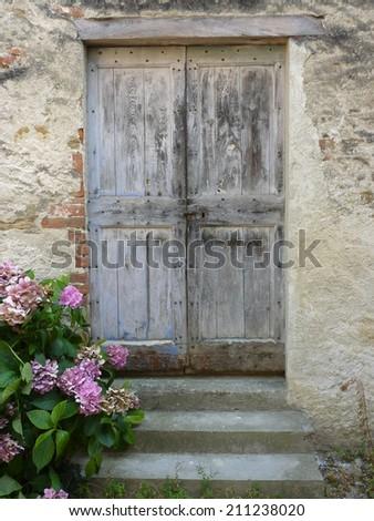 Antique door - stock photo