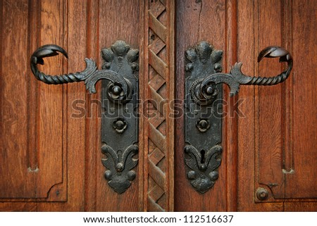 Antique door handles - Old Door Handle Stock Images, Royalty-Free Images & Vectors