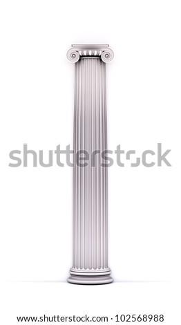 Antique doric style column - architectural detail - stock photo