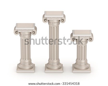 Antique doric style column - architectural detail