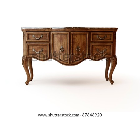 Antique dresser - stock photo