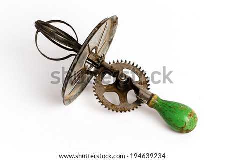 Antique Egg Beater - stock photo
