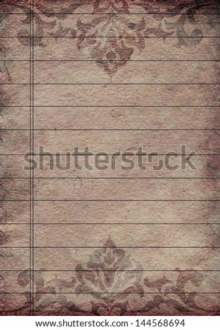 Antique Empty paper sheet with ornamental frame
