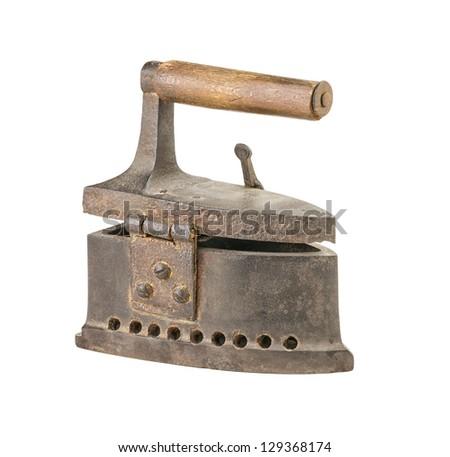 antique flat iron - stock photo