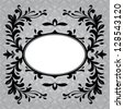 Antique frame border on a grey background - stock vector
