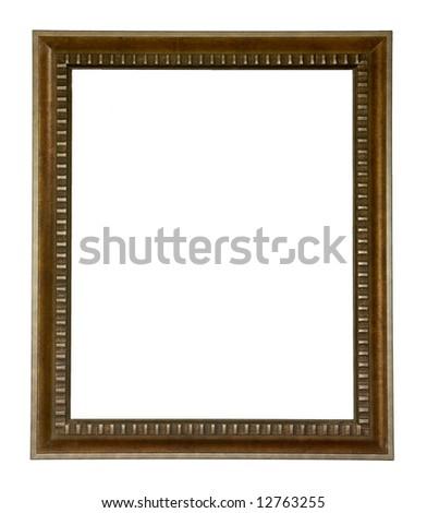 antique frame, isolated on white - stock photo