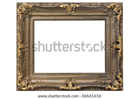Antique frame, isolated on white