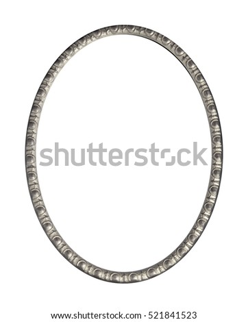 antique  frame isolated on white background with clipping path.