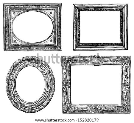 Antique Frames Stock Illustration 152820179 - Shutterstock