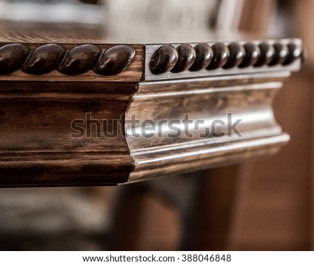 Antique furniture - table - stock photo
