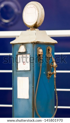 Antique gas pump. - stock photo