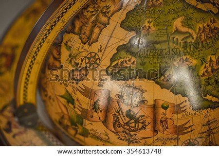 Antique Globes - stock photo