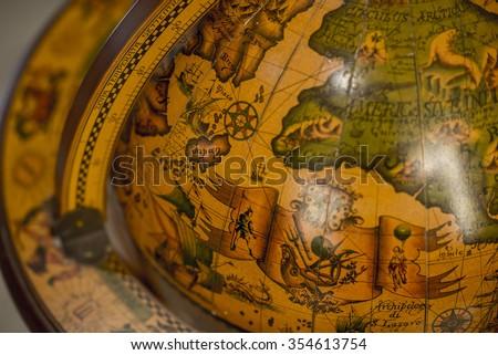 Antique Globes - stock photo