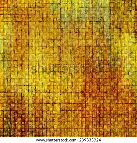Antique grunge background with space for text or image. With different color patterns: green; orange; brown; yellow - stock photo