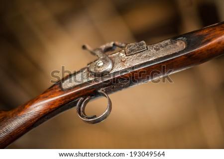 antique guns - stock photo