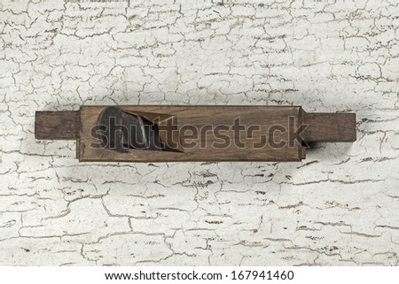 Antique Hand plane carpenter tool (Still life) - stock photo