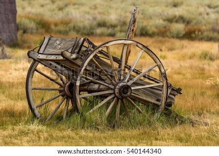 Antique Horse drawn cart. Bodie Ghost Town, a California State Park