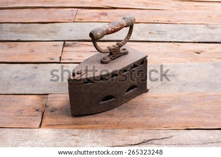 Antique iron from the idea of Thailand,In 1960 - stock photo