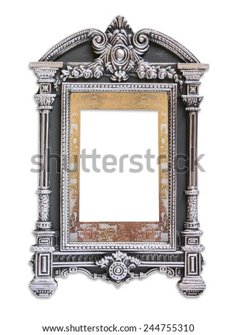 antique judaic classic frame. isolated on white - stock photo