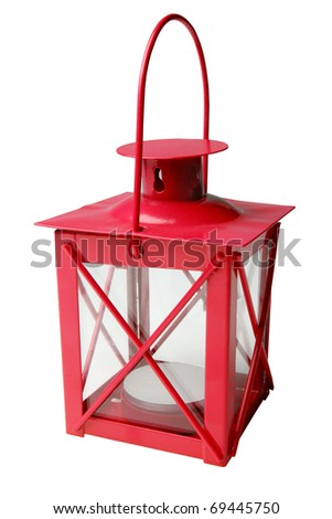 antique lantern - stock photo