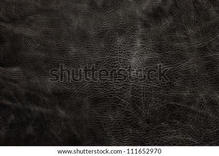 Antique Leather Texture, BLACK - stock photo