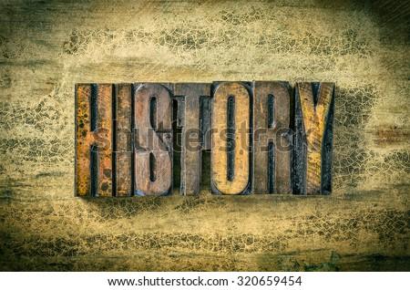 Antique letterpress wood type printing blocks - History - stock photo