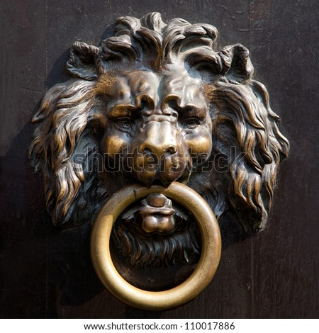 Antique Lionu0027s Head Doorknocker In Aachen, Germany