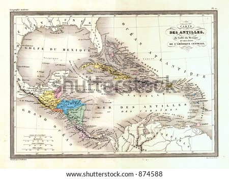 West indies map stock images royalty free images vectors antique 1870 map of west indies caribbean gumiabroncs Image collections