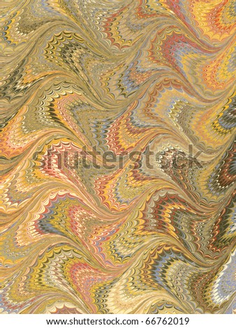 Antique Marbled Paper Background - stock photo