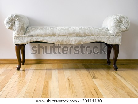 antique old-fashioned bench - stock photo
