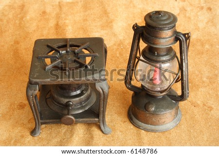 Antique old items used in old times - stock photo