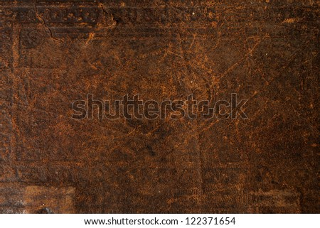 Antique Old Leather Background Texture - stock photo