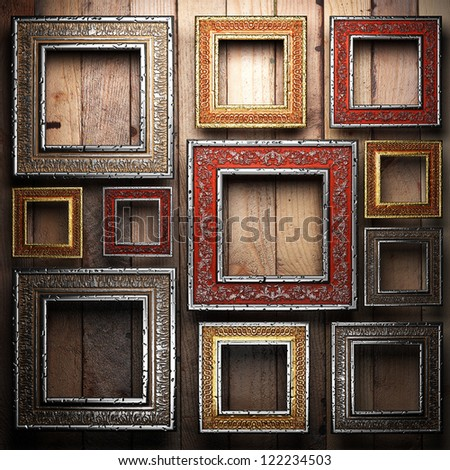Antique ornament frame made in 3d