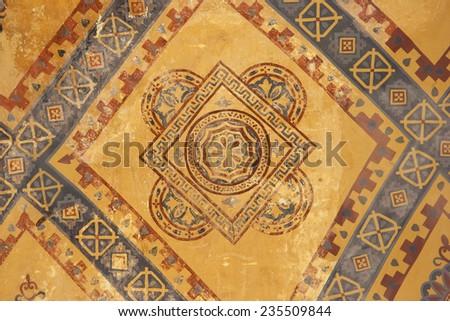 Antique Paintings in Istanbul - Hagia Sophia, Istanbul, Turkey, Europe - stock photo