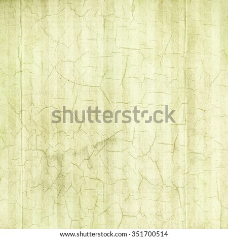 Antique Pale Green Cracked Linen Background - stock photo