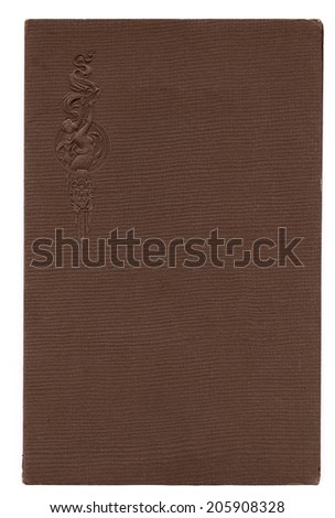 Antique paper photograph cover background with embossed woman - stock photo