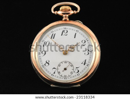 Antique Pocket Watch - Isolated on Black