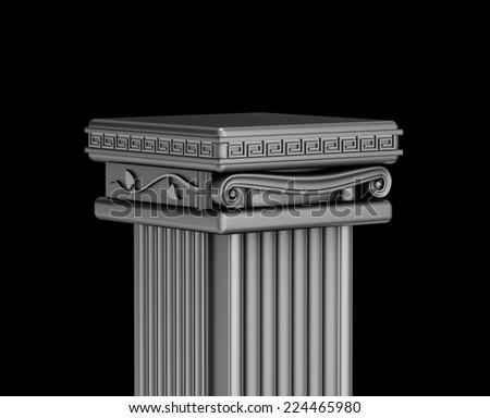 Antique podium for exhibit - stock photo