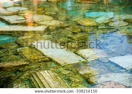 Antique pool (Cleopatra's Bath) in Pamukkale